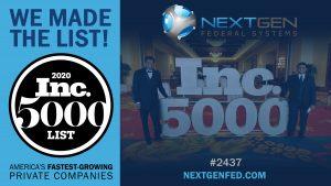 NextGen 2020 Inc. 5000